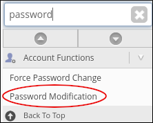 WebHost Manager - Password Modification