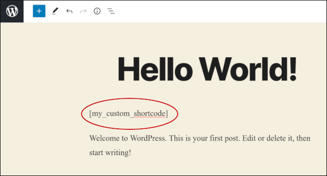 WordPress - Custom shortcode example