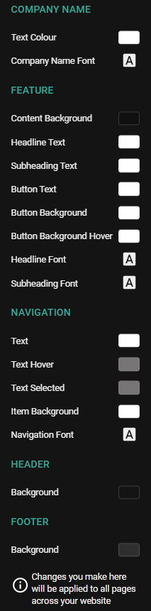 Content type styling options