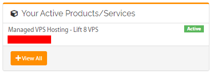 Managed VPS product under active products/services