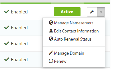 Manage Nameservers