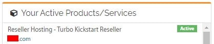 Click on Reseller account in Customer Portal
