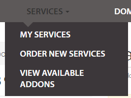 Select My Services from the Services menu